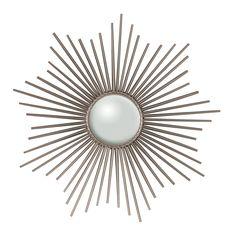Global Views Nickel Mini Sunburst Mirror @Zinc_Door #mirror #sunburst #zincdoor