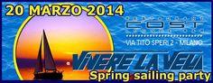 Giovedi 20 Marzo 2014 SPRING SAILING PARTY  Il 20 di marzo Vivere la Vela salpa per una nuova primavera!  Per celebrare l'arrivo della primavera Vivere la Vela organizza una grande festa con buffet, musica e tanto divertimento, in uno dei locali piu' cool di Milano.   Ti aspettiamo al Cost Lounge Bar, ore 20.30.