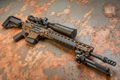 Chambered in this is my newest photo of my Atomic Bronze MEGA Arms Maten Airsoft Guns, Weapons Guns, Guns And Ammo, Ar Rifle, Battle Rifle, Assault Rifle, Assault Weapon, Cool Guns, Military Weapons