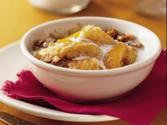 Praline Peach Cobbler-Can't wait to try this.  For a smaller version of this cobbler, cut all of the ingredients in half and use an 8- or 9-inch square glass baking dish. Also, good suggestions by reviewers.