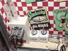 Miniature 50's diner....love the signage