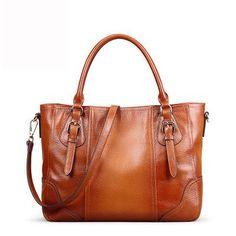 Womens Congac Cervo Pleats   Shoulder Bag  Messenger Bag