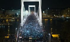 Hungarians march again in protest against internet tax plan