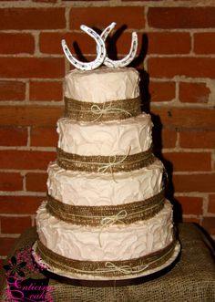 Rustic Equestrian Wedding Cake