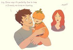 Awww!!! Pumpkin Harry by julvett.deviantart.com