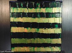 Green & Copper Abstract Square Painting by LoveHandyWork Green Copper, Abstract Paintings, Etsy Shop, Quilts, Color, Art, Art Background, Quilt Sets, Colour