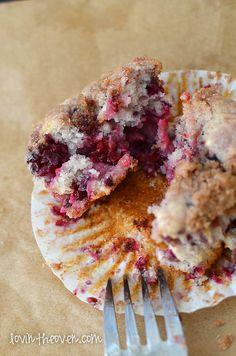 Buttermilk Blackberry Crumble Muffins