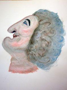 """Studio del personaggio della fiaba """"Tra vetro e vetrine"""" (""""The baker"""" - fairy tale character)"""