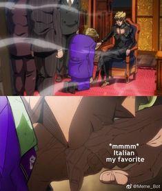 What a beautiful new Bossu, chew Jojo Bizarre, Jojo's Bizarre Adventure, Jojo Anime, Jotaro Kujo, Great Memes, Jojo Memes, Killer Queen, Manga Anime, Otaku