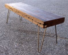 Slab of wood and hairpin legs.  I have the legs, but where can I find a table top like that?