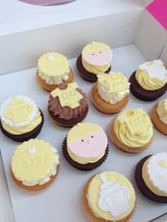 Baby shower cupcakes www.facebook.com/breezyscakes