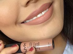 NYX SOFT MATTE LIP CREAM IN LONDON The Most Popular Nude Lipstick On Pinterest Looks Gorgeous On So Many Skin Tones