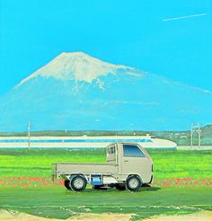 Honda Acty Pick-Up Paper Model And Mount Fuji Volcano And Bullet Train Japan Diorama - 17 Of 84   by Kelvin64