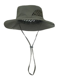 Bucket Hat Boonie Hunting Fishing Outdoor Wide Cap (Khaki) at Amazon Men's Clothing store: