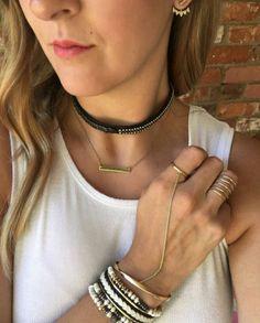 #chokers #dainty #jewellery #jewelry #stelladotstyle #fashion #layering #gold