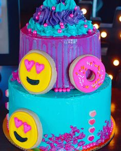 Emoji Cake. http://www.wanderingwhiskbakeshop.com/