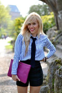 GiGi New York | It Girl Fashion Blog | Magenta Uber Clutch