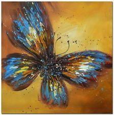 Mão pintada Moderna Impressionismo Borboleta Pintura A Óleo Sobre Tela