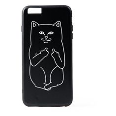 Naughty Cat Iphone case ($35) ❤ liked on Polyvore featuring men's fashion, men's accessories, men's tech accessories and black