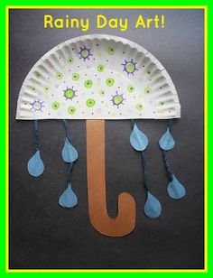 Fun umbrella art project! perdect for a weather unit! A Kindergarten Smorgasboard Schedulin Sunday and Boot Scootin Blog Hop!
