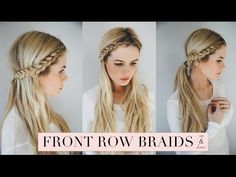 Front Row Braid Tutorial - Barefoot Blonde by Amber Fillerup Clark