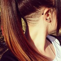 This subtle beauty. | These Cool Hair Designs Will Give Your Ponytail New Life