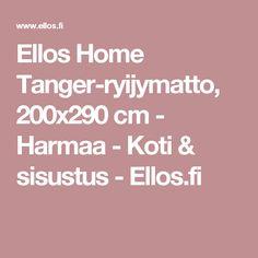 Ellos Home Tanger-ryijymatto, 200x290 cm - Harmaa - Koti & sisustus - Ellos.fi