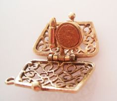 9ct Gold Clutch Handbag or Purse Charm opens by TrueVintageCharms, £119.00