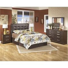 Cabin Creek Queen/ Full Headboard, Night Stand and Media Chest by ...