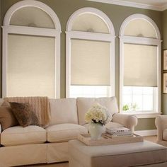 Cellular Shades with Perfect Arches