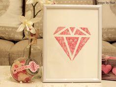 Design by Suzi: ◈ Galaxy Love Diamond ◈ Be My Valentine, Container, Love, Diamond, Frame, Design, Home Decor, Amor, Picture Frame