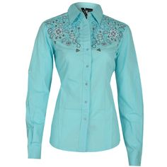 ... Rockmount Ranch Wear Womens Vintage Western Fancy Shirt Fine Floral  Front on Mannequin