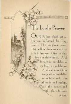 The Lord's Prayer - Jesus taught us how to pray
