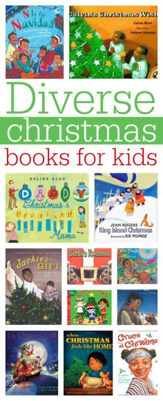 Diverse Christmas Books for Kids (from No Time for Flash Cards)