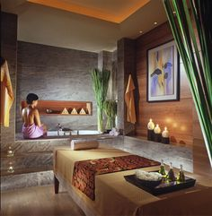 Four Seasons Hotel Jakarta Spa features steam rooms, deep soaking tubs, a sauna, yoga room and juice bar, along with six...