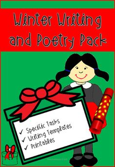 28% OFF ALL RESOURCE IN MY STORE!   Winter Writing and Poetry Pack