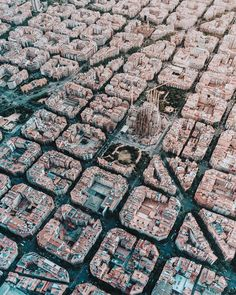 Aerial view from Barcelona city. - Aerial view from Barcelona city. Gaudi Barcelona, Barcelona City, Barcelona Travel, Barcelona Catalonia, Barcelona Sights, Visit Barcelona, Canon Photography, Aerial Photography, Photography Photos