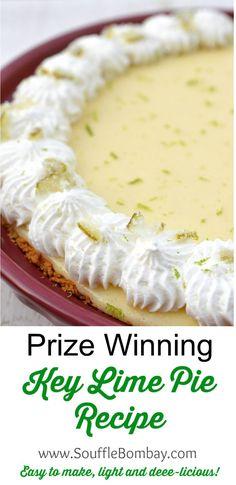 Prize Winning Key Lime Pie Recipe Prize Winning Key Lime Pie Recipe, Key Lime Pie Rezept, Keylime Pie Recipe, Keylime Pie Easy, Toasted Coconut Pie Recipe, Key Lime Pie Crust Recipe, Coconut Key Lime Pie Recipe, Homemade Key Lime Pie Recipe, Torte Recipe