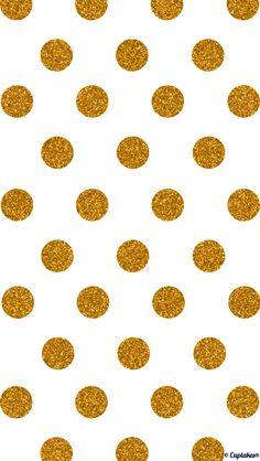 Gold glitter jumbo polka dots iphone wallpaper phone background lockscreen