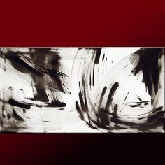 Abstract Canvas Art Painting 36x18 Original by wostudios on Etsy