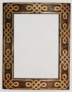 Knot frame by llinosevans on DeviantArt Celtic Border, Wood Burning Patterns, Carving Designs, Wood Detail, Celtic Art, Celtic Designs, Border Design, Illuminated Manuscript, Bookbinding