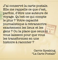 "Citation de ""La Carte Postale""."