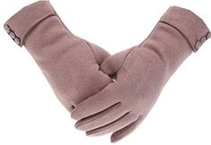 Tomily Womens Touch Screen Phone Fleece Windproof Gloves Winter Warm Wear (Black) at Amazon Women's Clothing store: