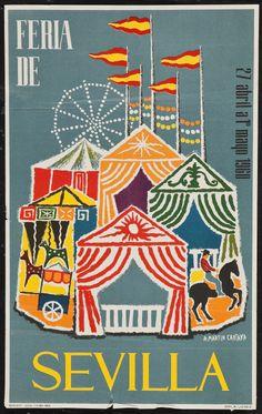 The Seville Fair Poster, 1960: Design by A. Martin Cartaya