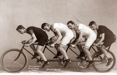POISED AND POSED: Quad Cycle, 1898.