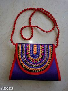 Handbags Fancy Silk Hand Bags  *Material* Silk   *Size* L x B - 9 in X 10 in   *Description* It Has 1 Piece of Bag   *Work* Kutchi Hand Work  *Sizes Available* Free Size *   Catalog Rating: ★4.2 (114)  Catalog Name: Free Mask Kutchian Designer Handbags Vol 8 CatalogID_20908 C73-SC1073 Code: 703-205922-