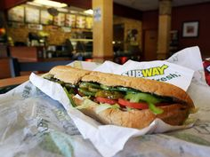 Editor's note: This story is part of a series on finding the healthiest menu options at some of the most popular fast food restaurant chains. So what's so special about Subway, you might ask? After all, a sandwich is a sandwich -- right? Baked Chicken, Chicken Recipes, Subway Tuna, Subway Bread, Healthy Subway Sandwiches, Free Birthday Food, Sweets, Cartoons, Fast Recipes