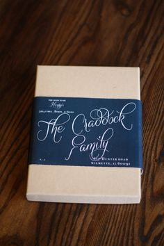 CUSTOM boxed wedding invitation