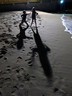 Kids on the beach  St Martin