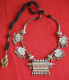 India | Vintage silver taviz amulet pendant necklace from Rajasthan
